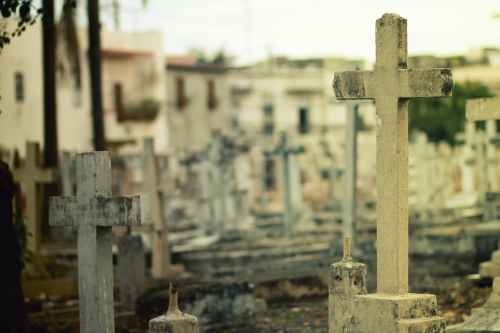 cross crosses cementery